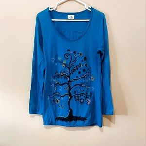 Ark Imports Embroidered Long Sleeve Cotton Shirt